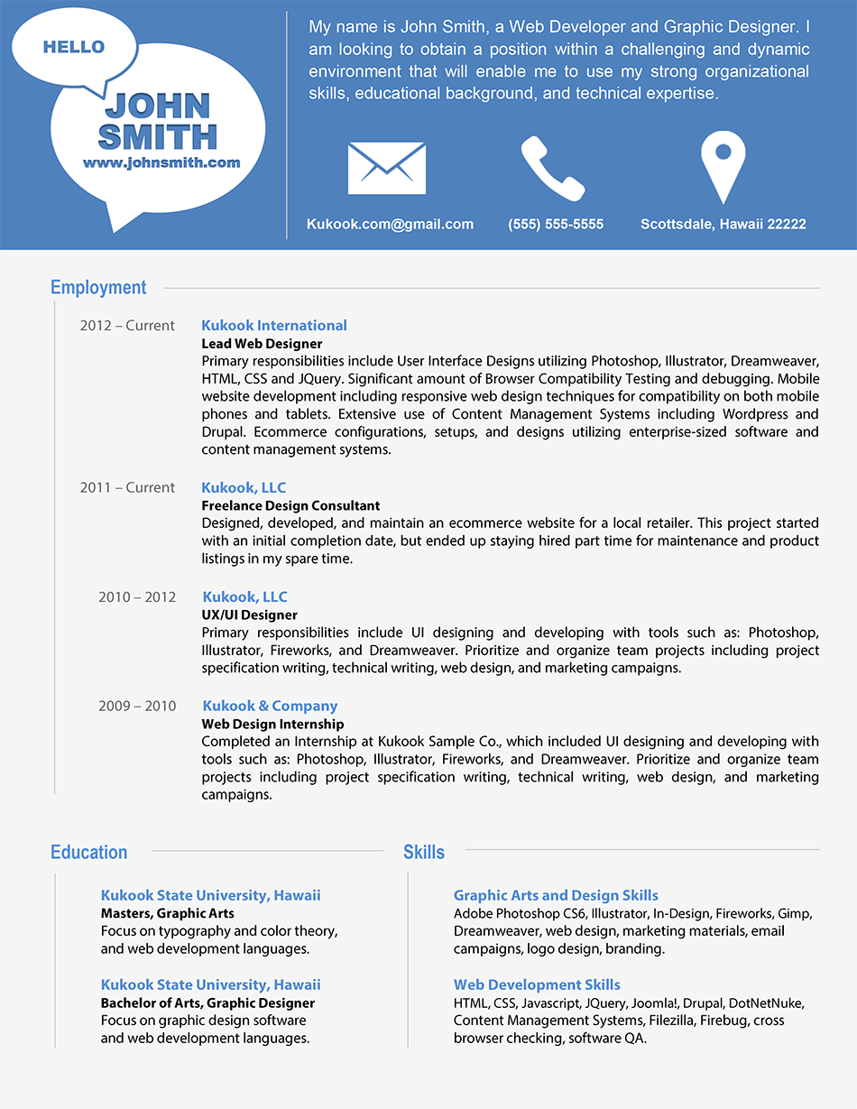 modern resume template latest information