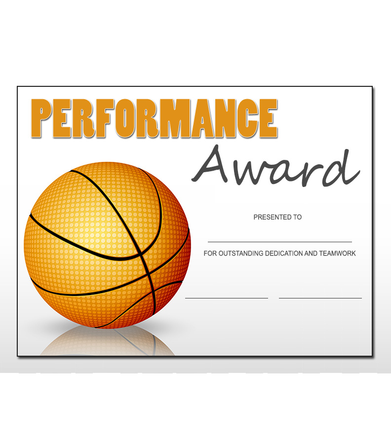 Basketball Sports Award Template