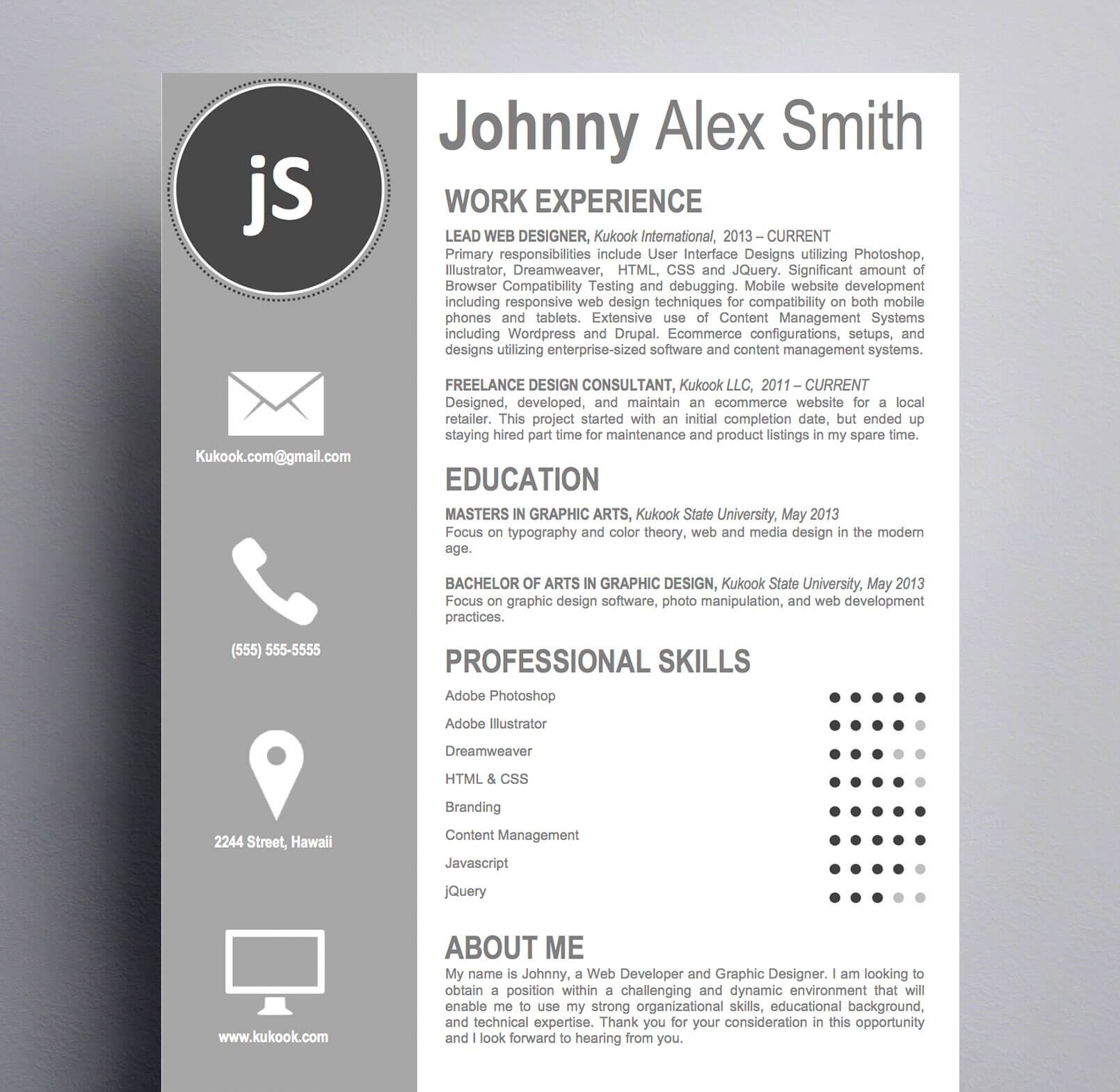Artistic Resume Template
