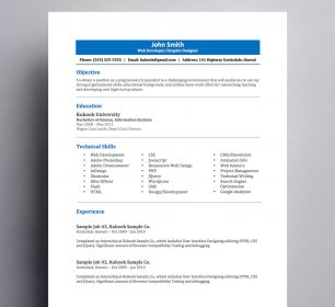 entry level resume suitable for students