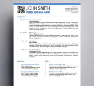resume for graphic designer