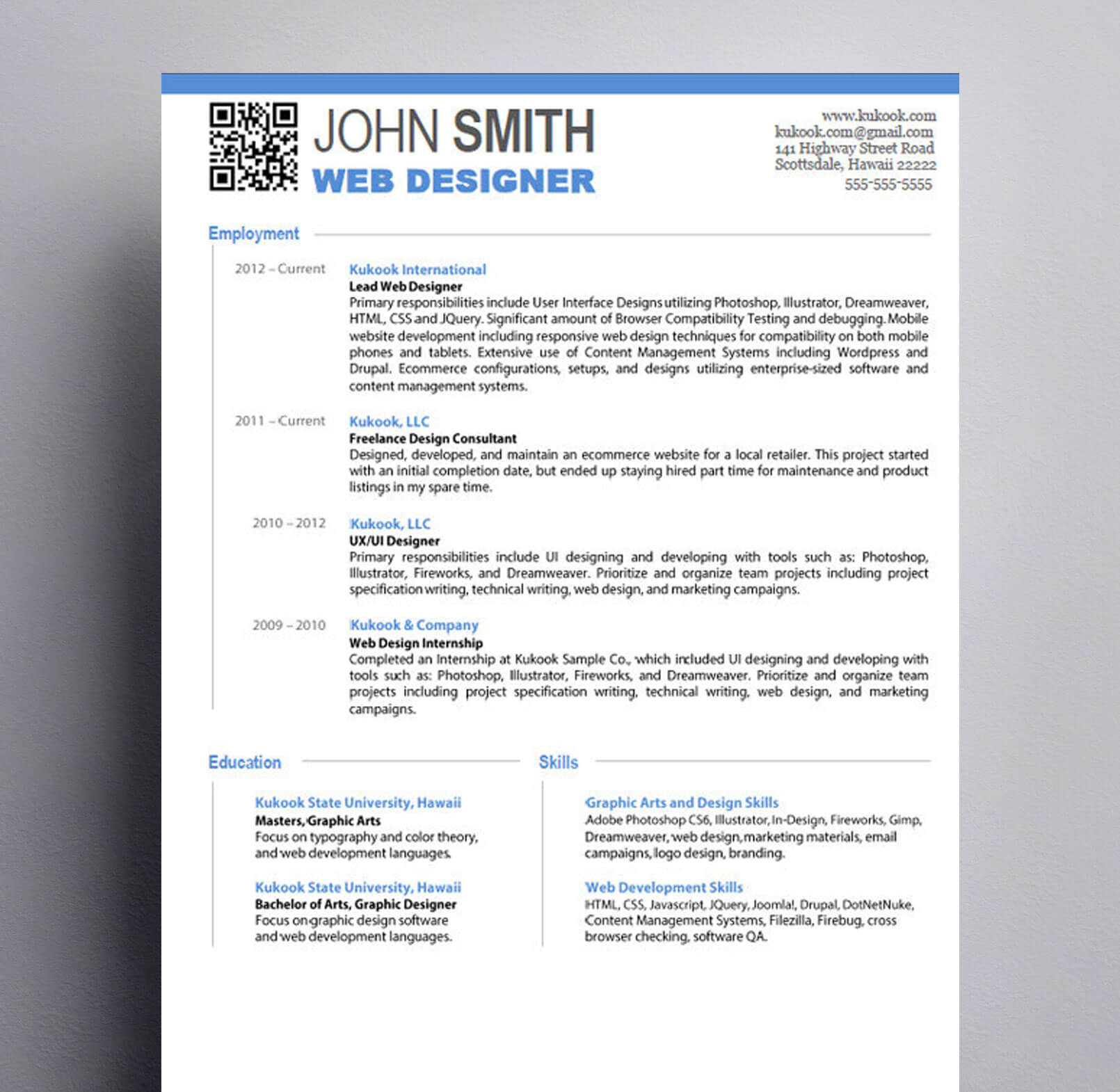 Graphic Design Resume : Kukook