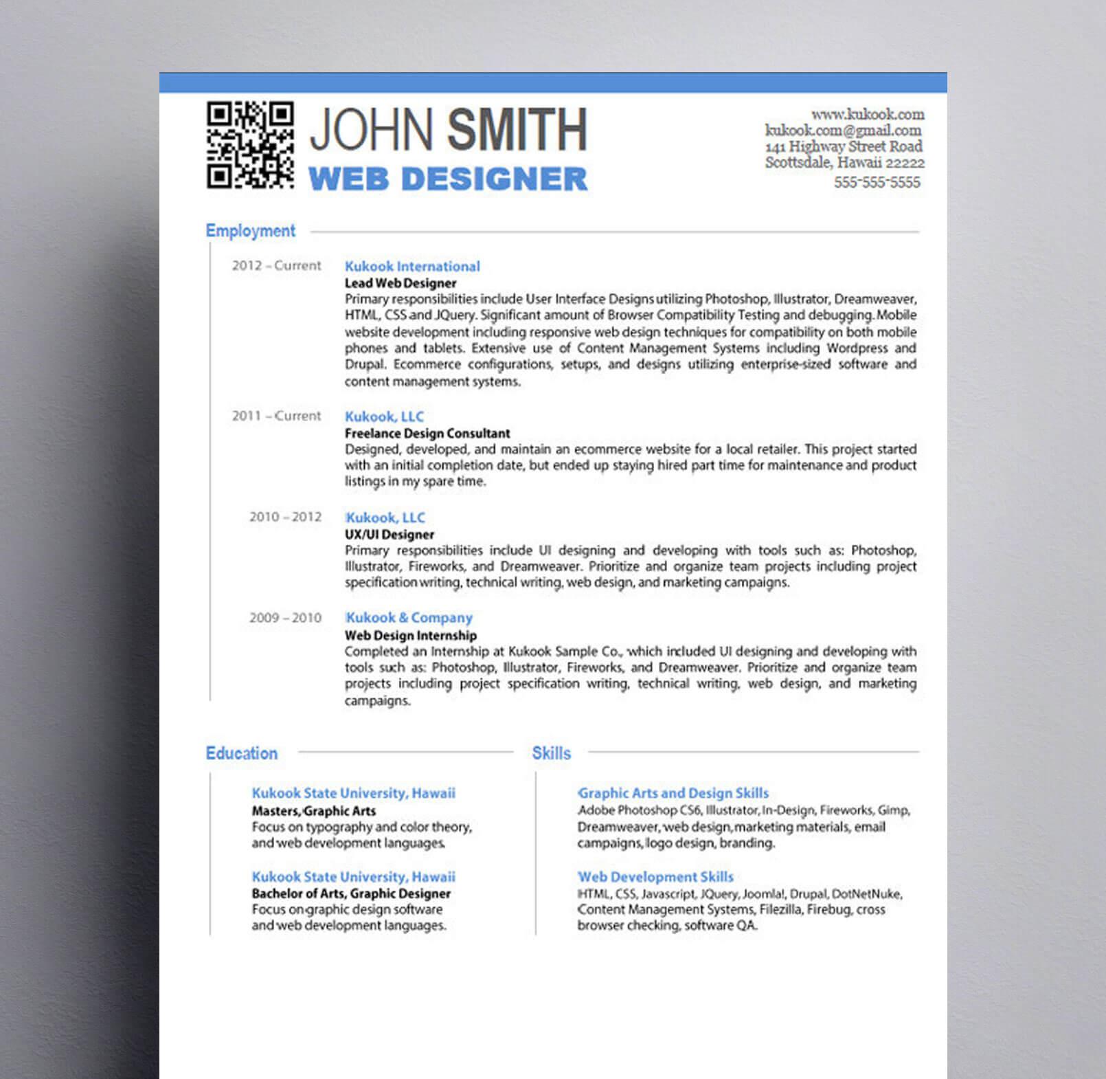 Graphic Design Intern Resume Examples Tips Skills