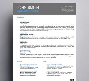 simple designer resume template
