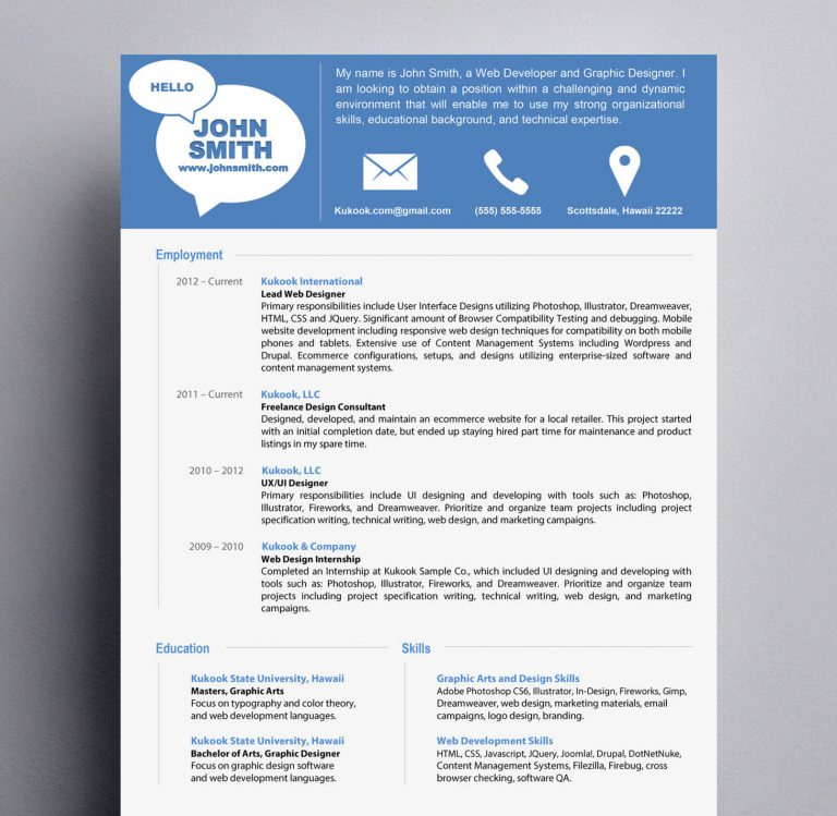 resume templates modern simple and modern resume template kukook 24466 | simple and modern resume template 768x749