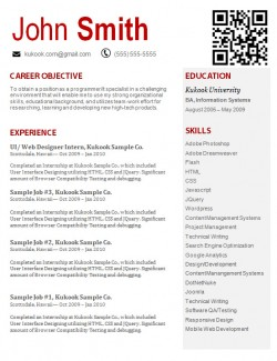 should web developers a creative resume