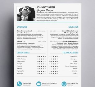 modern and creative resume style