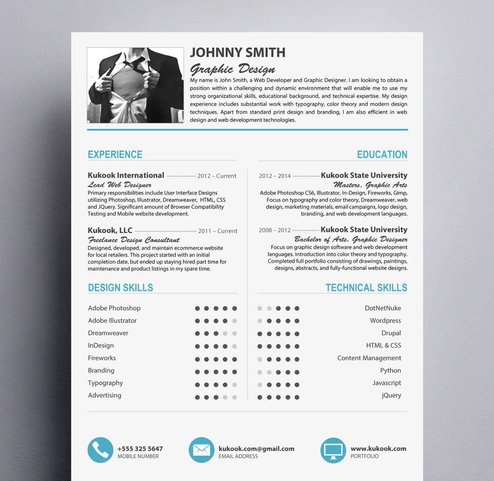 modern resume template for graphic designers kukook modern and creative resume style