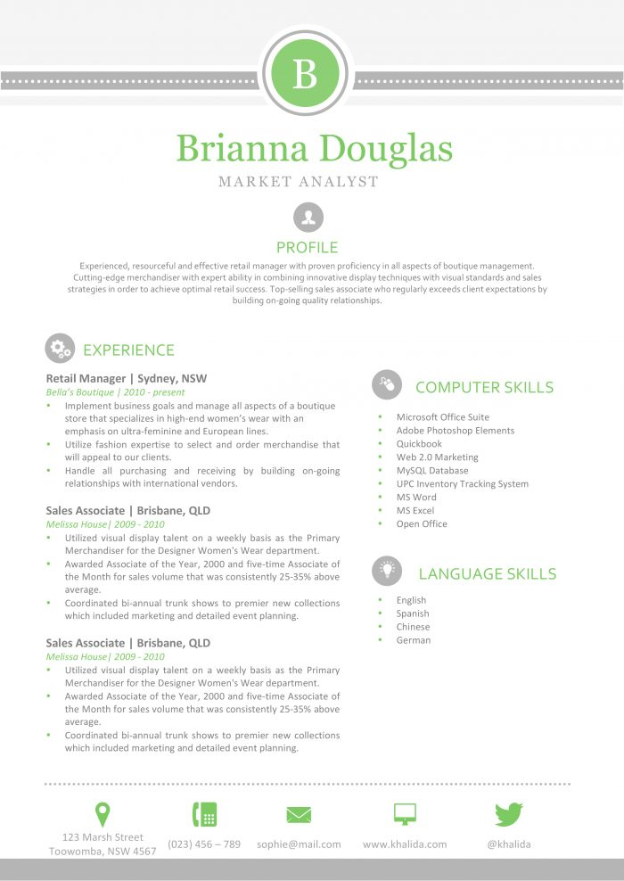31 Creative Resume Templates for Word [You'll Love Them] : Kukook