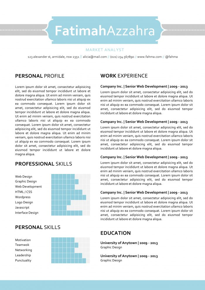 Use Our Creative Resume Templates, Land The Job.   Company Resume Template