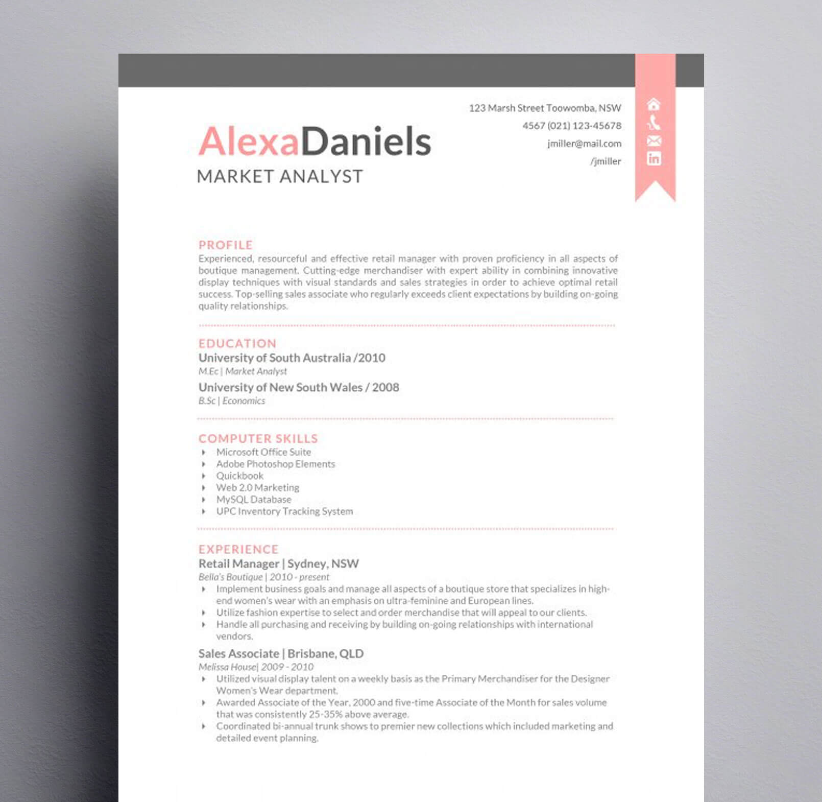 The Alexa Daniels Resume : Kukook
