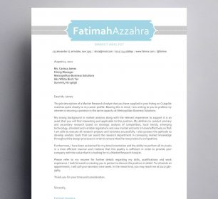 fatimah azzahra baby blue themed cover letter
