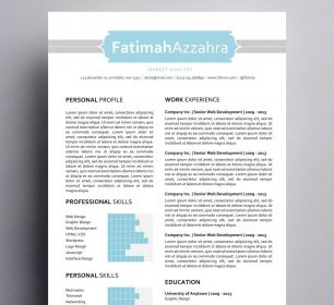 fatimah azzahra resume with bar chart