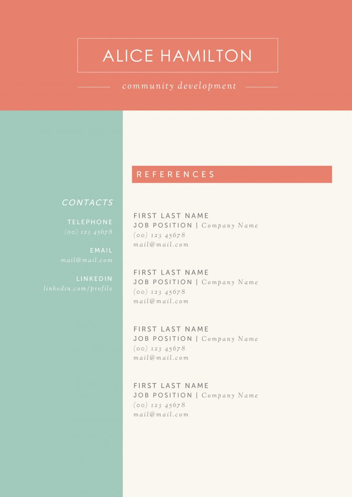 use our creative resume templates land the job