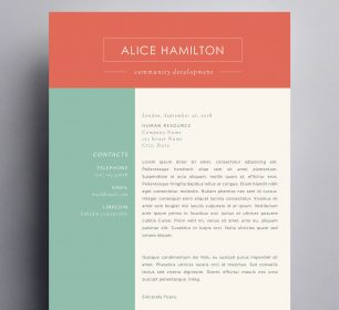 sleek cover letter template