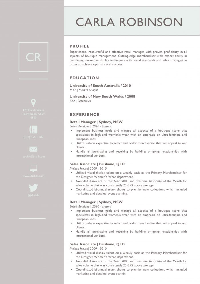31 Creative Resume Templates for Word [You\'ll Love Them] : Kukook