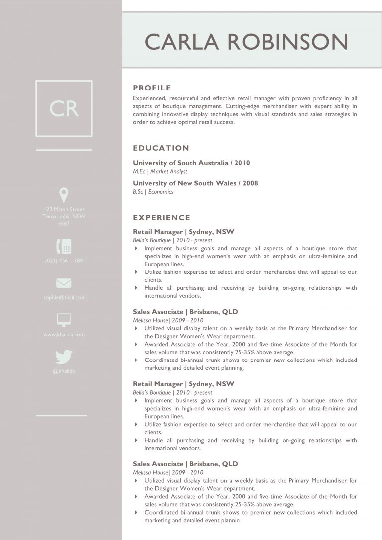 The Carla Robinson Resume : Kukook