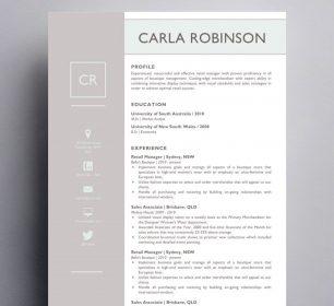 carla robinson resume template