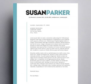 modern and clean cover letter sample