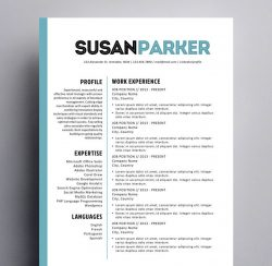 cool resume templates for mac creative resume templates for mac apple pages ٩ ۶ 20967 | susan parker resume 250x244