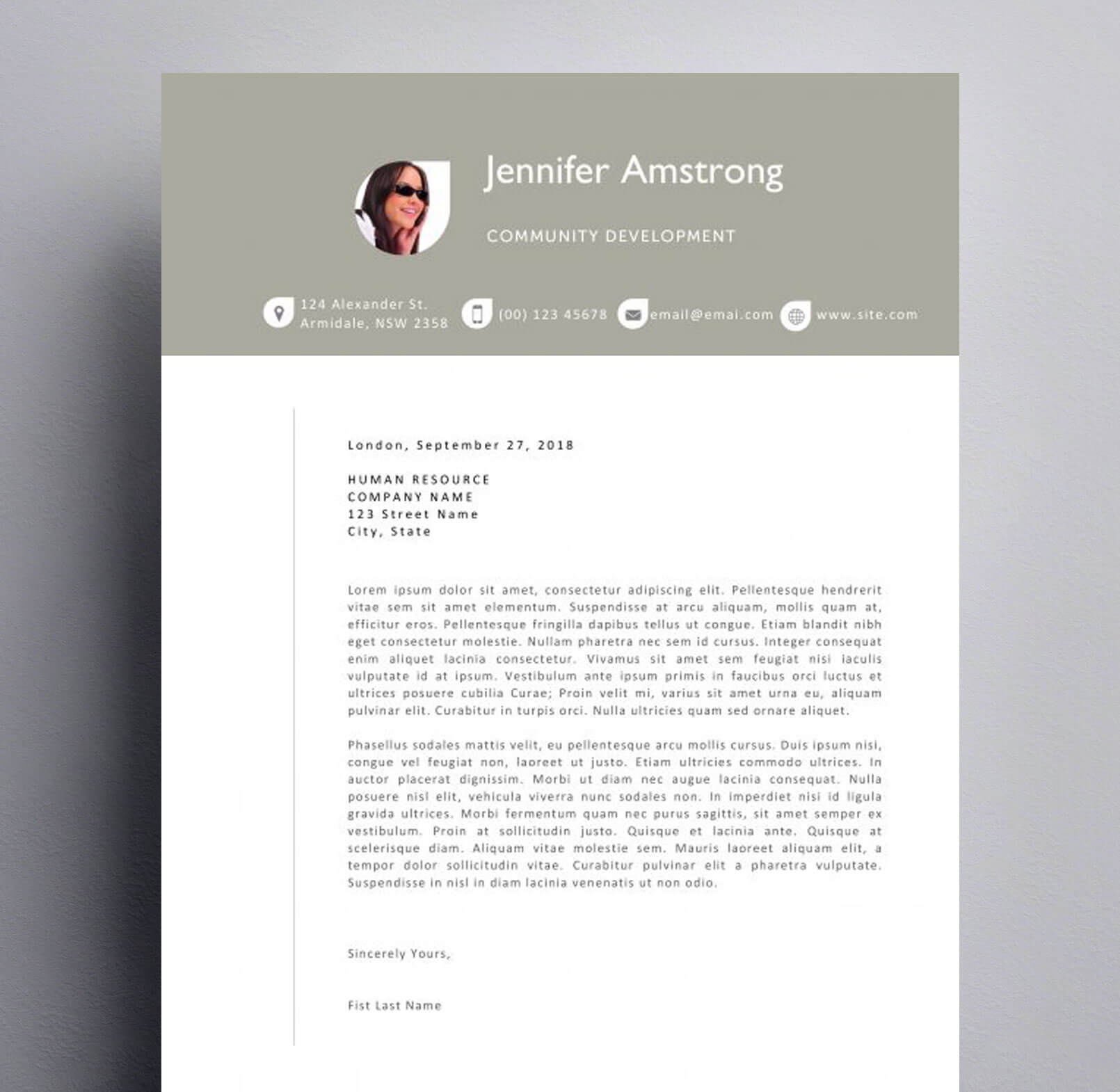 cover letter example download hr cover letter