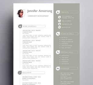 soft colored resume template