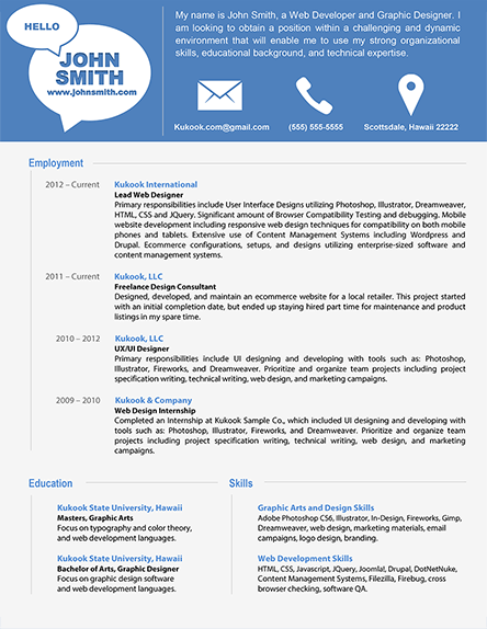 Simple and Modern Resume Template