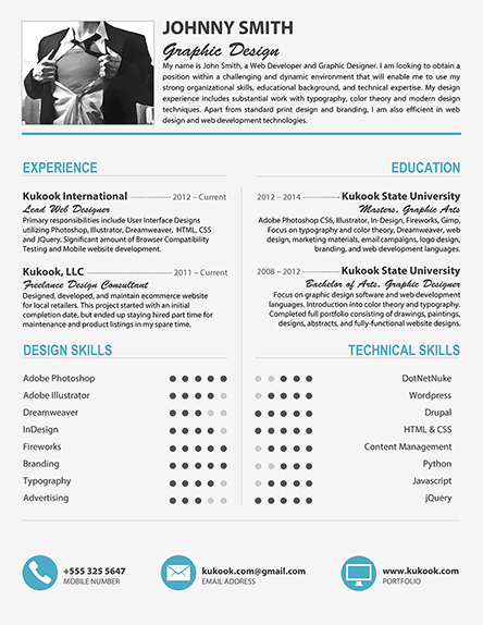 Beautiful and Modern Resume Template
