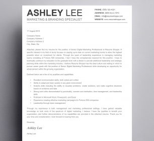 black and white simple cover letter design