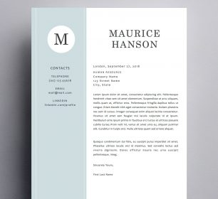 elegant and simple maurice hanson cover letter