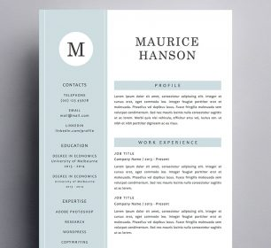elegant and simple maurice hanson resume