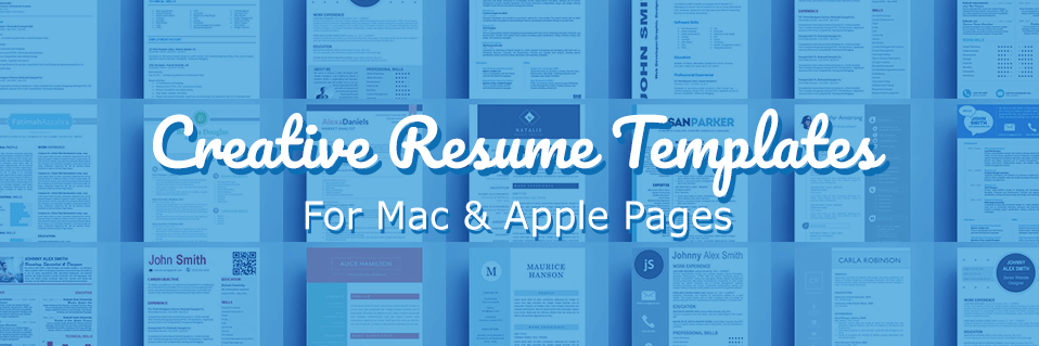 creative resume templates for mac apple pages ٩ ۶ kukook