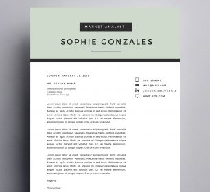 clean and simple cover letter template