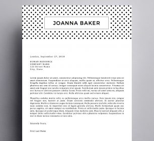 polka dotted cover letter template