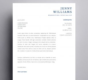 jenny cover letter template