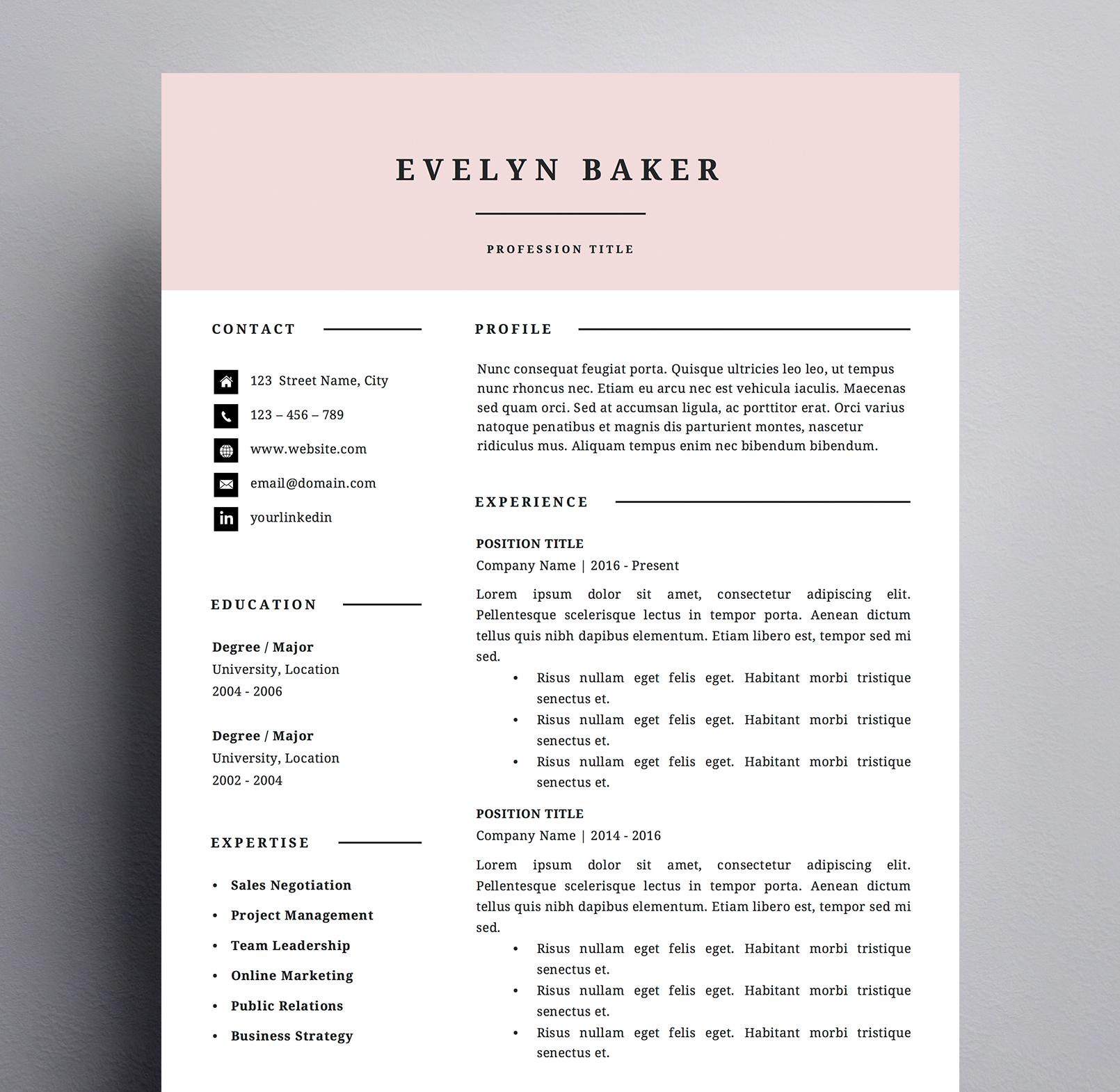 evelyn baker resume   kukook