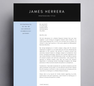 modern business cover letter